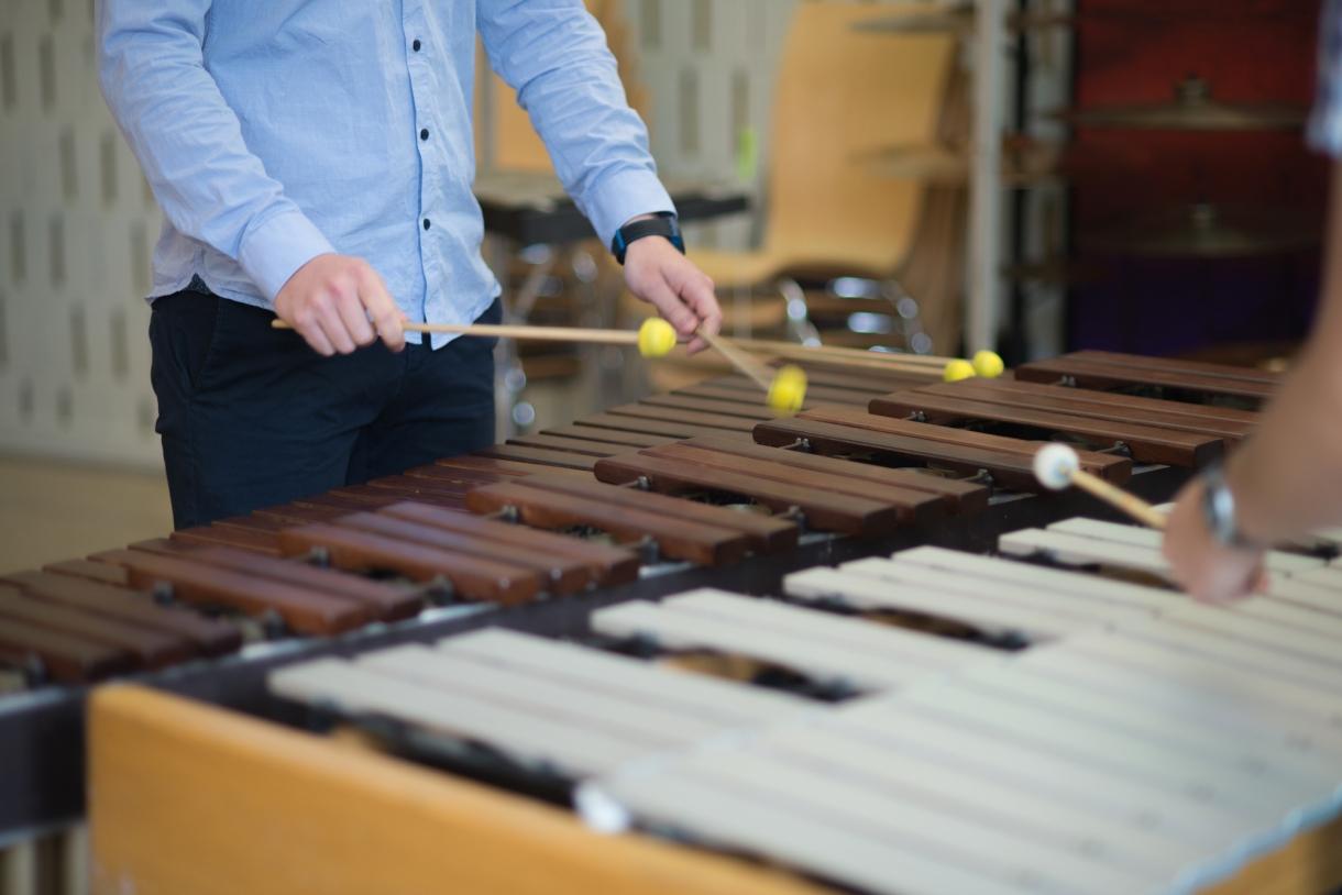 © Florian Machot — Salle de percussions à l'Académie supérieure de musique
