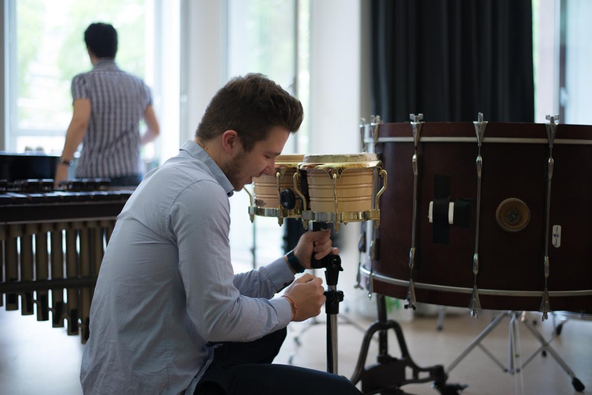 © Florian Machot — Salle de percussions de l'Académie supérieure de musique