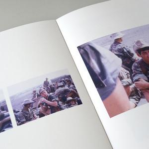 Madeleine RIOUSSE /  Manoeuvres en T.F.A.I.     19 x 22,5 cm / reliure cousu / couverture rigide pleine toile / impression numérique / papier multidesign white 150g / 30 pages / 3 exemplaires   Mise en page de diapositives trouvées.
