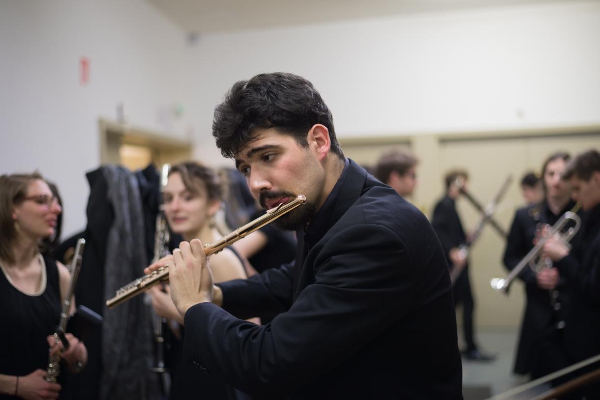 © Florian Machot — Coulisses avant un concert à l'Auditorium de la Cité de la musique et de la danse de Strasbourg
